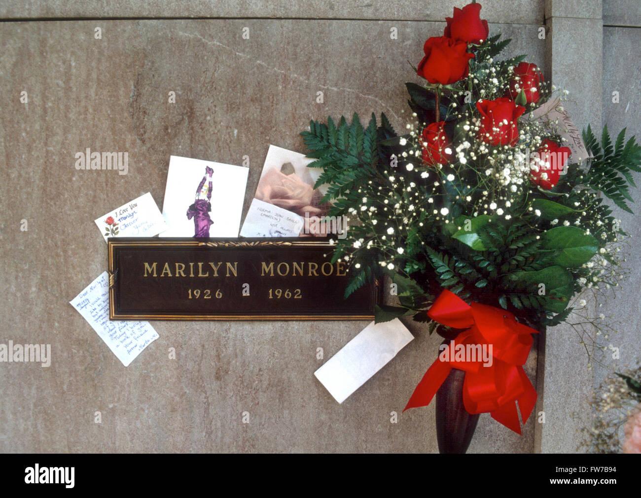 MARILYN MONROE actress grave - Stock Image