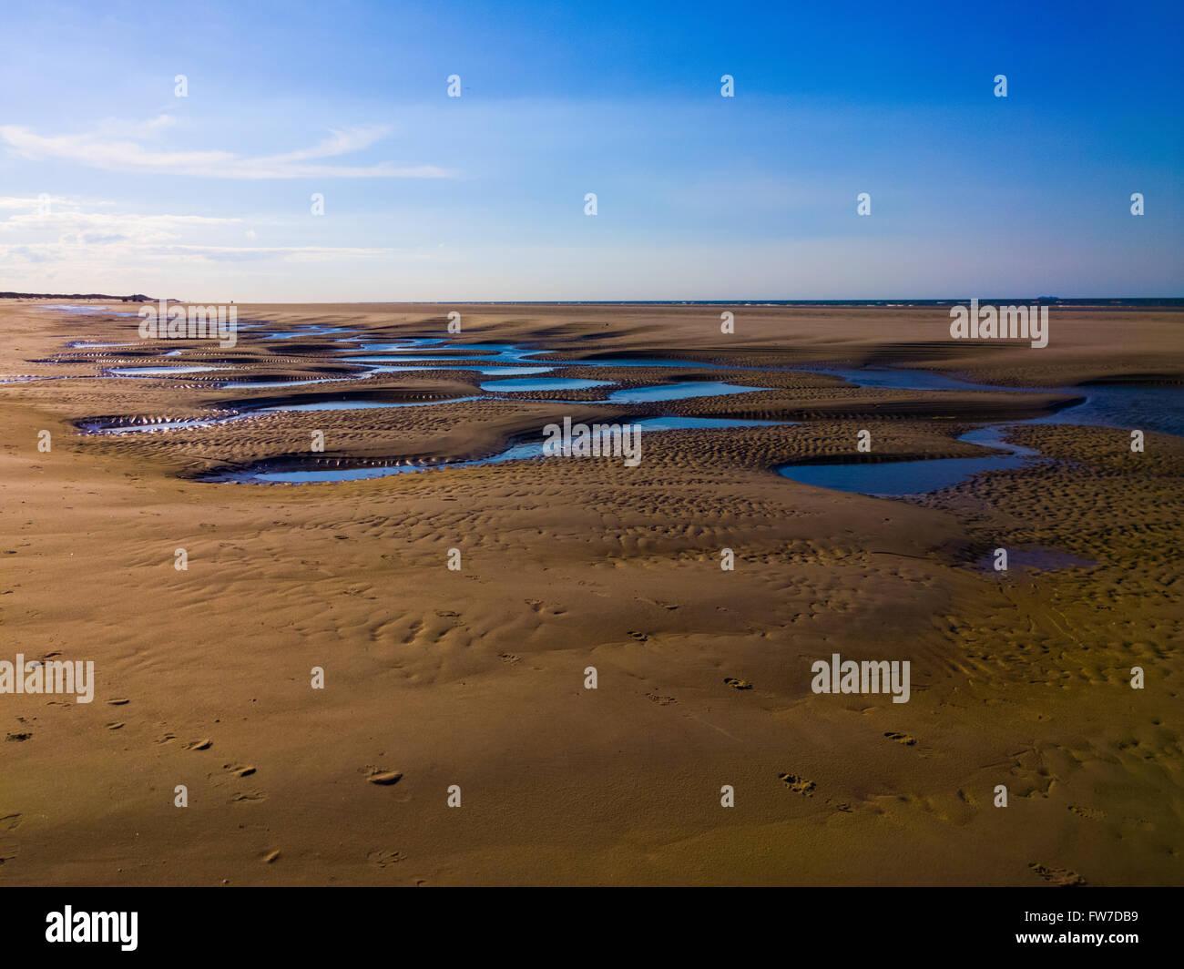 Langeoog Beach Structure during ebb Stock Photo