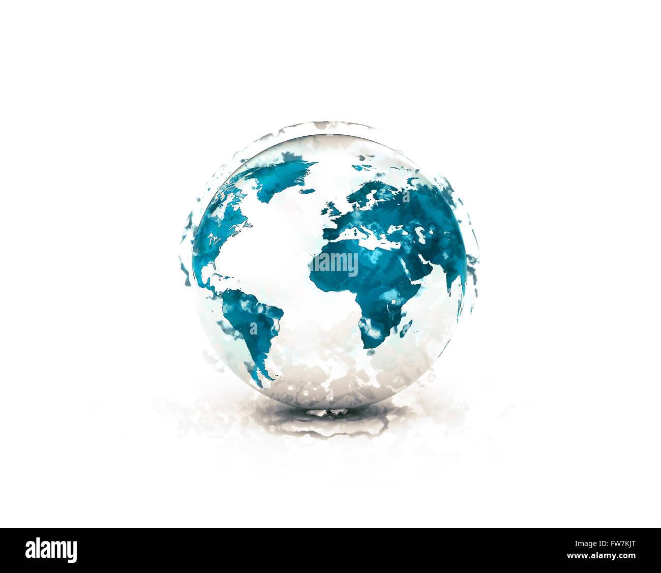 Creative Digital Art 3d World Map Globe Wallpaper Mikespike123