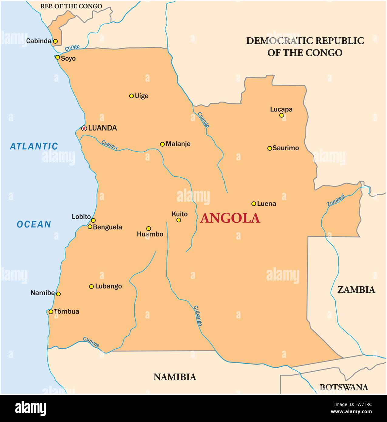 simple vector map of the state of Angola Stock Vector Art ... on map of armenia, map of ghana, map of lesotho, map of southern europe, map of argentina, map of africa, map of albania, map of namibia, map of philippines, map of zambia, map of mozambique, map of burkina faso, map of bolivia, map of chile, map of african countries, map of botswana, map of madagascar, map of djibouti, map of latvia, map of spain,