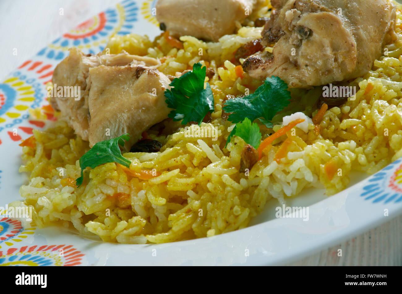 Kashmiri Chicken Pulao - Stock Image