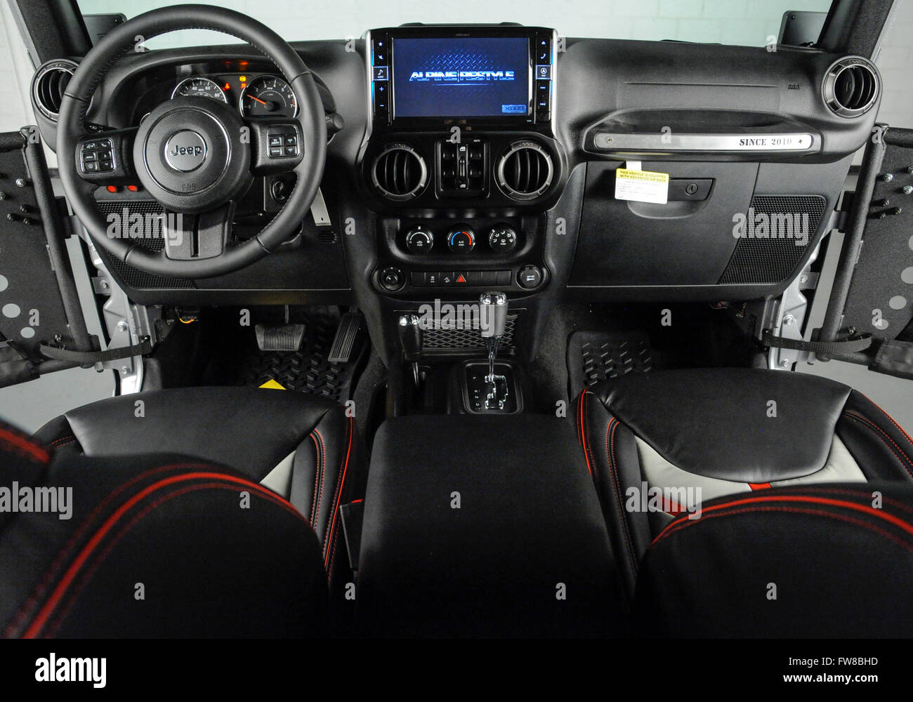April 1 2016 Custom Jeep Wrangler With Custom Doors And Leather Stock Photo Alamy