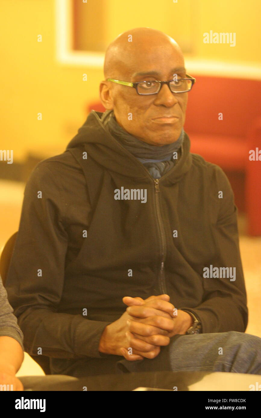 Napoli, Italy. 01st Apr, 2016. Will Weldon Roberson during the press conference in the foyer of the Teatro Augusteo Stock Photo