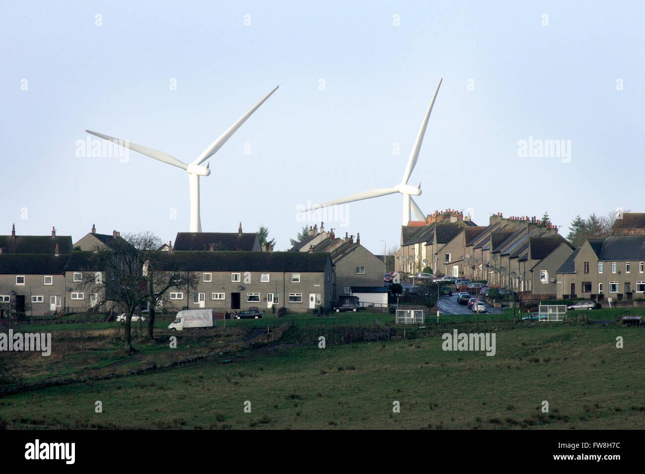 Wind Farm close to village of Forth , Lanarkshire Scotland - Stock Image