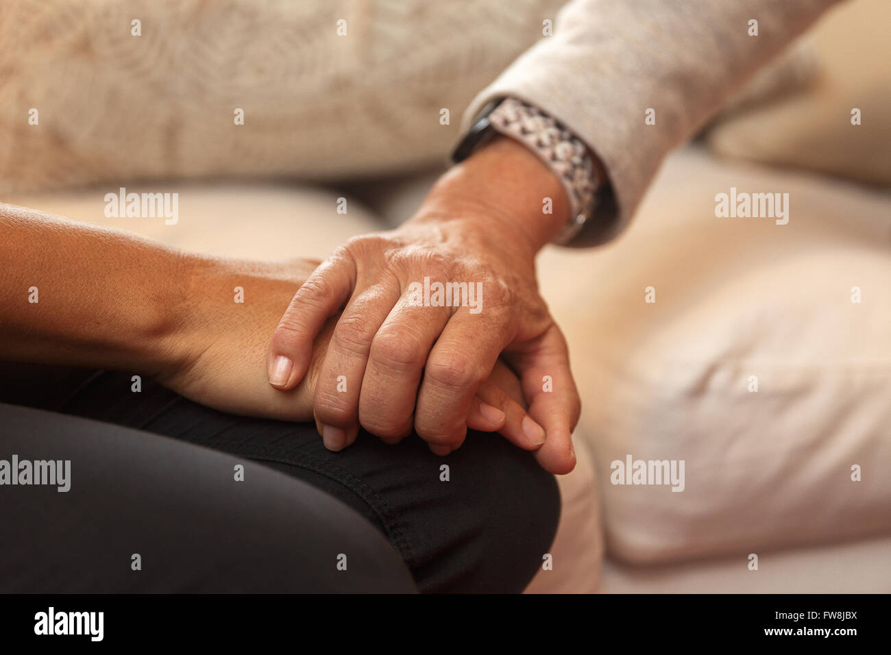 mother and daughter-nice talk - Stock Image