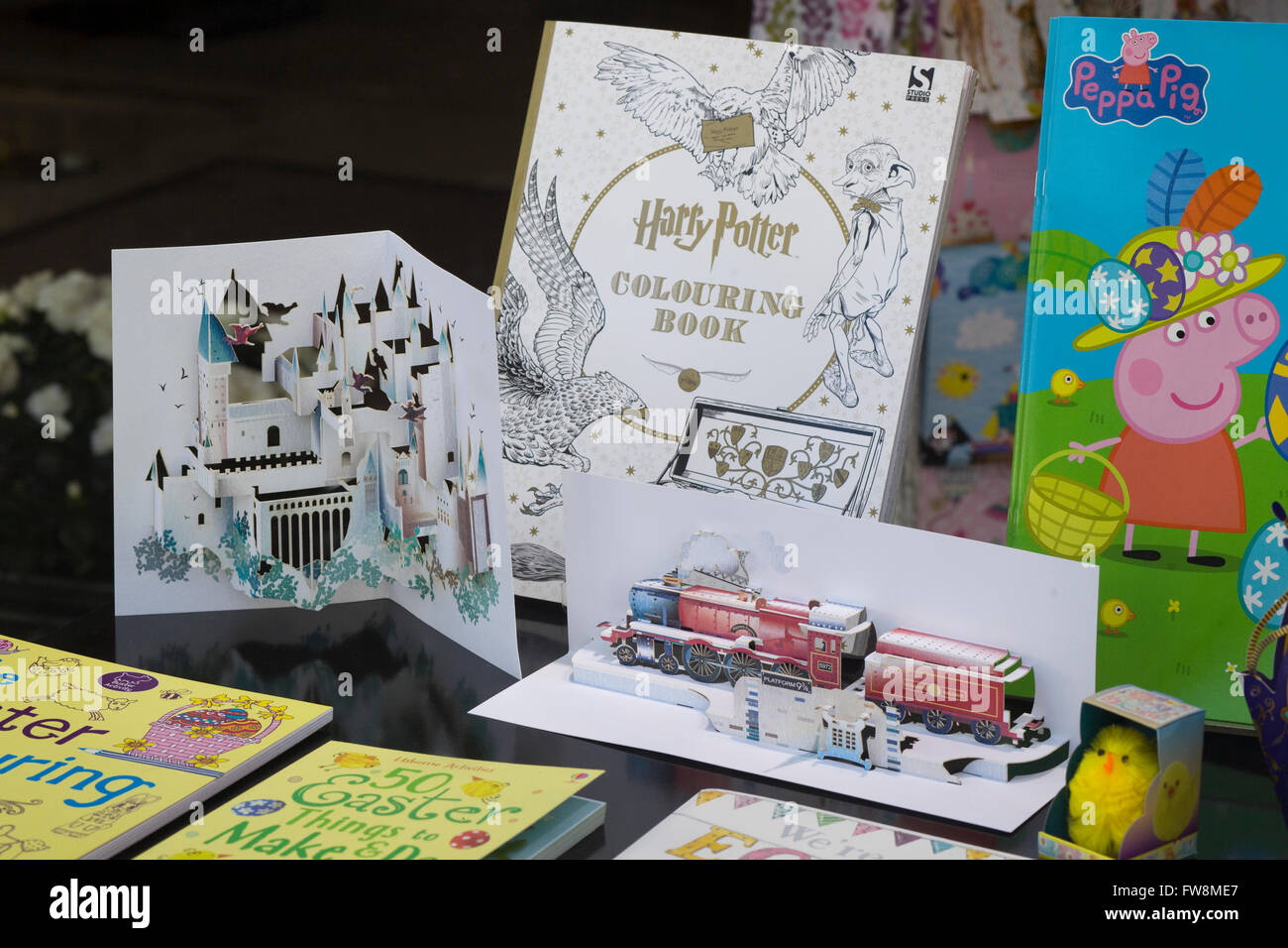 J K Rowling Harry Potter Coloring Books And Pop Up Books Stock