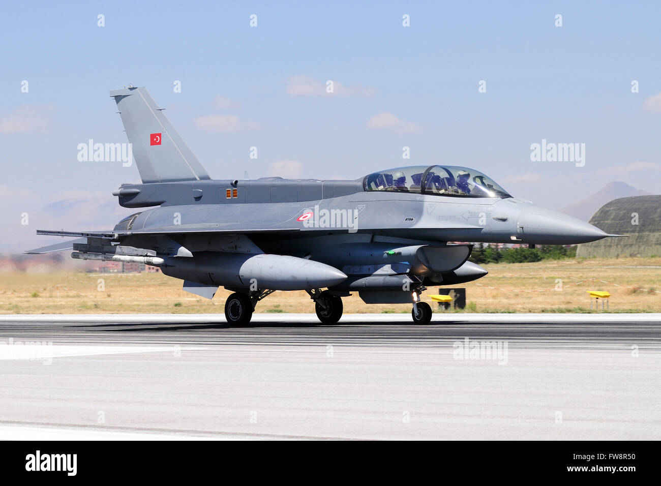 A Turkish Air Force F-16D Block50+ Fighting Falcon attending the international Exercise Anatolian Eagle 2013-2 in - Stock Image