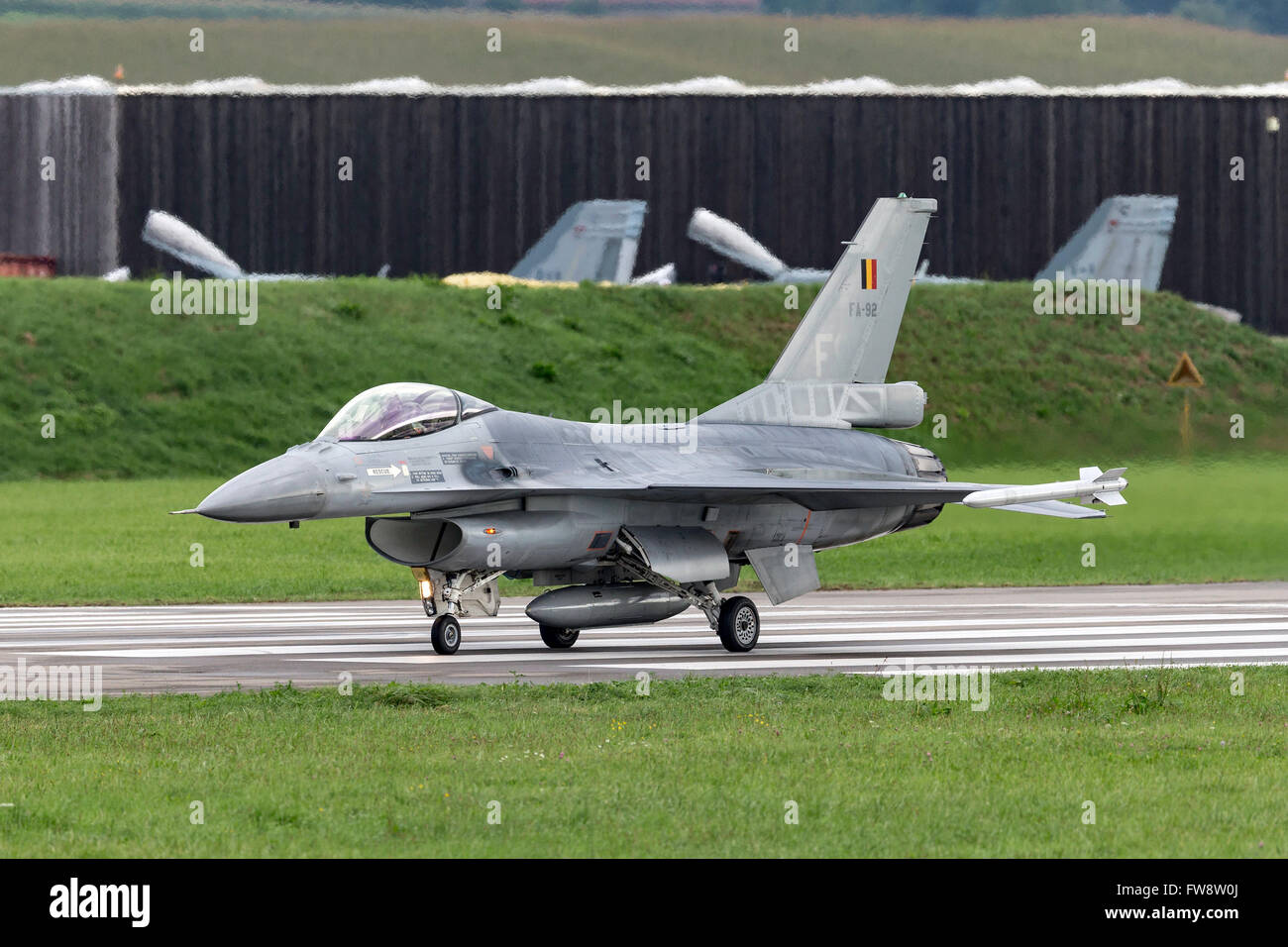Belgian Air Component General Dynamics F-16AM multirole fighter aircraft - Stock Image