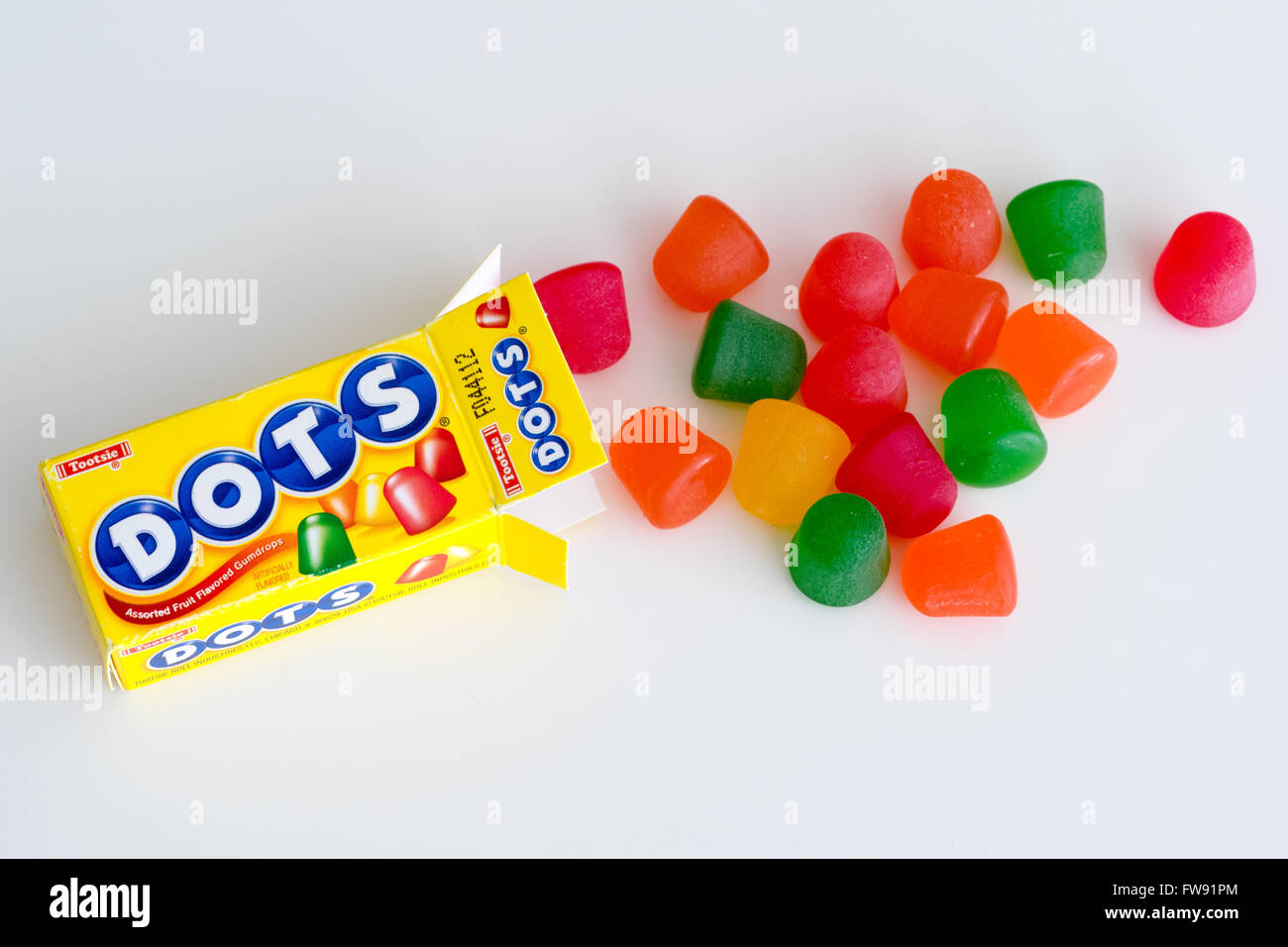 DOTS (also known as Mason Dots) gumdrops, which are marketed by Tootsie Roll Industries. - Stock Image