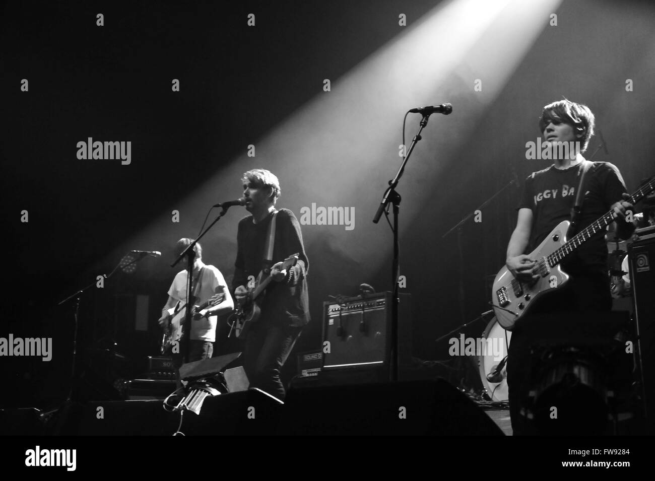 Tocotronic live in Hamburg, Germany. Editorial use only. Stock Photo