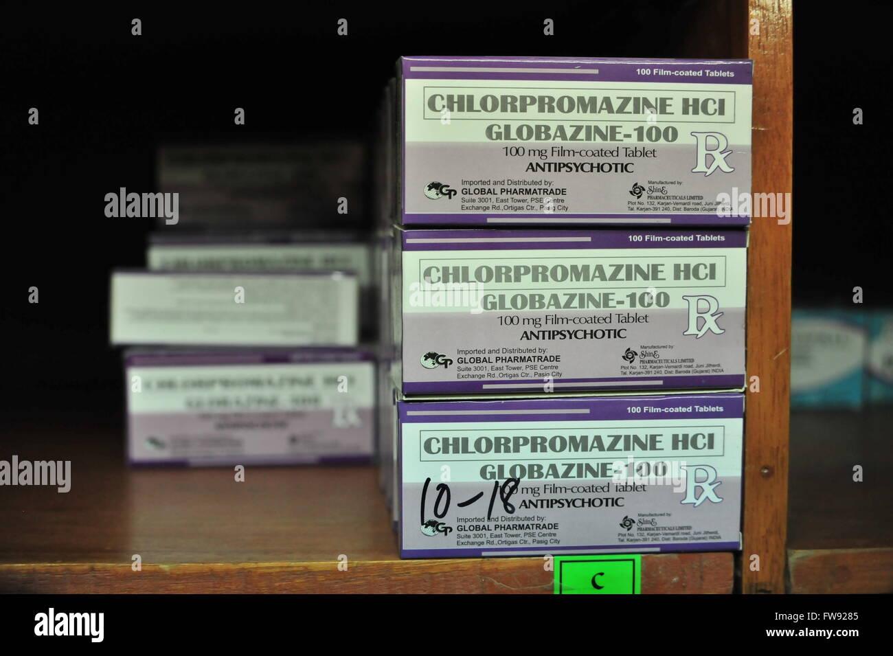 Medikamente im Krankenhaus, Mindanao, Philippinen. Stock Photo