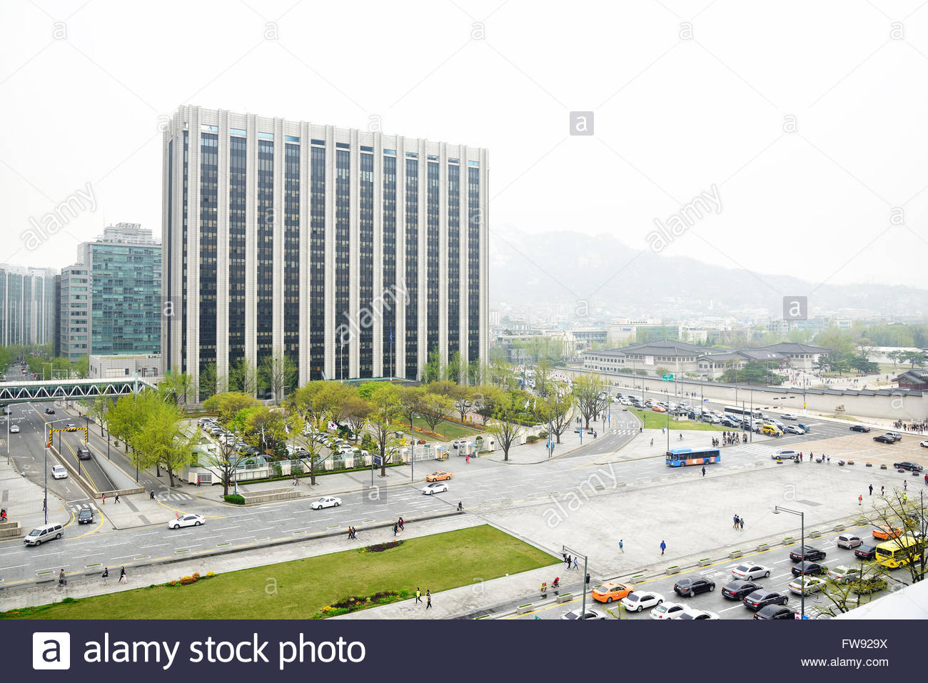 Ministry of the Interior, Seoul, South Korea - Stock Image