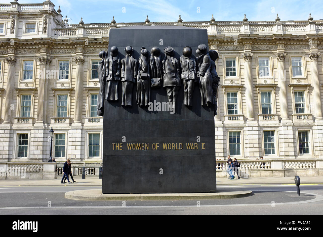 Monument to the Women of WW2 - Stock Image
