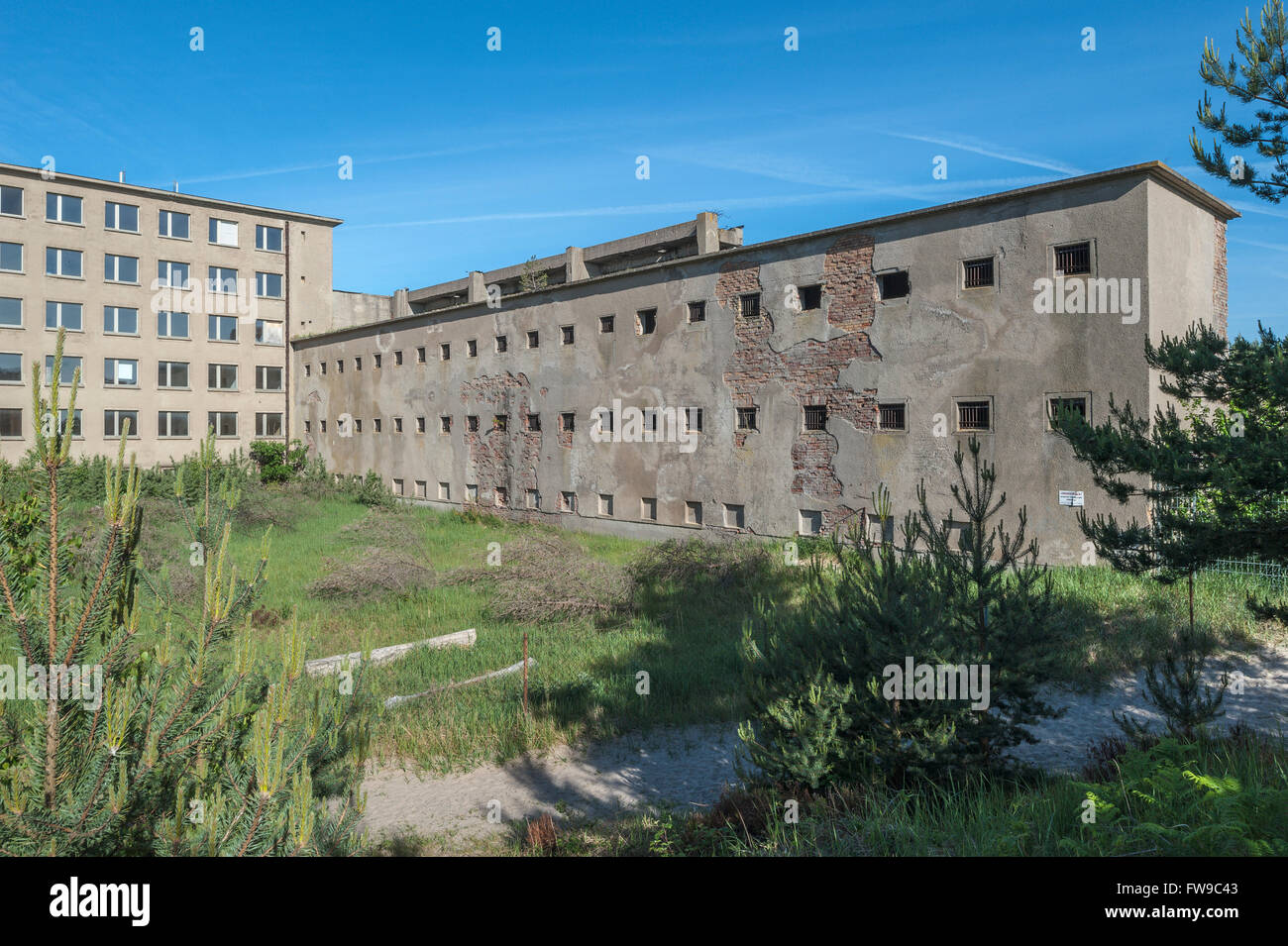 Prison, former seaside resort Rügen of the Kraft durch Freude or KdF organization, unfinished major project - Stock Image