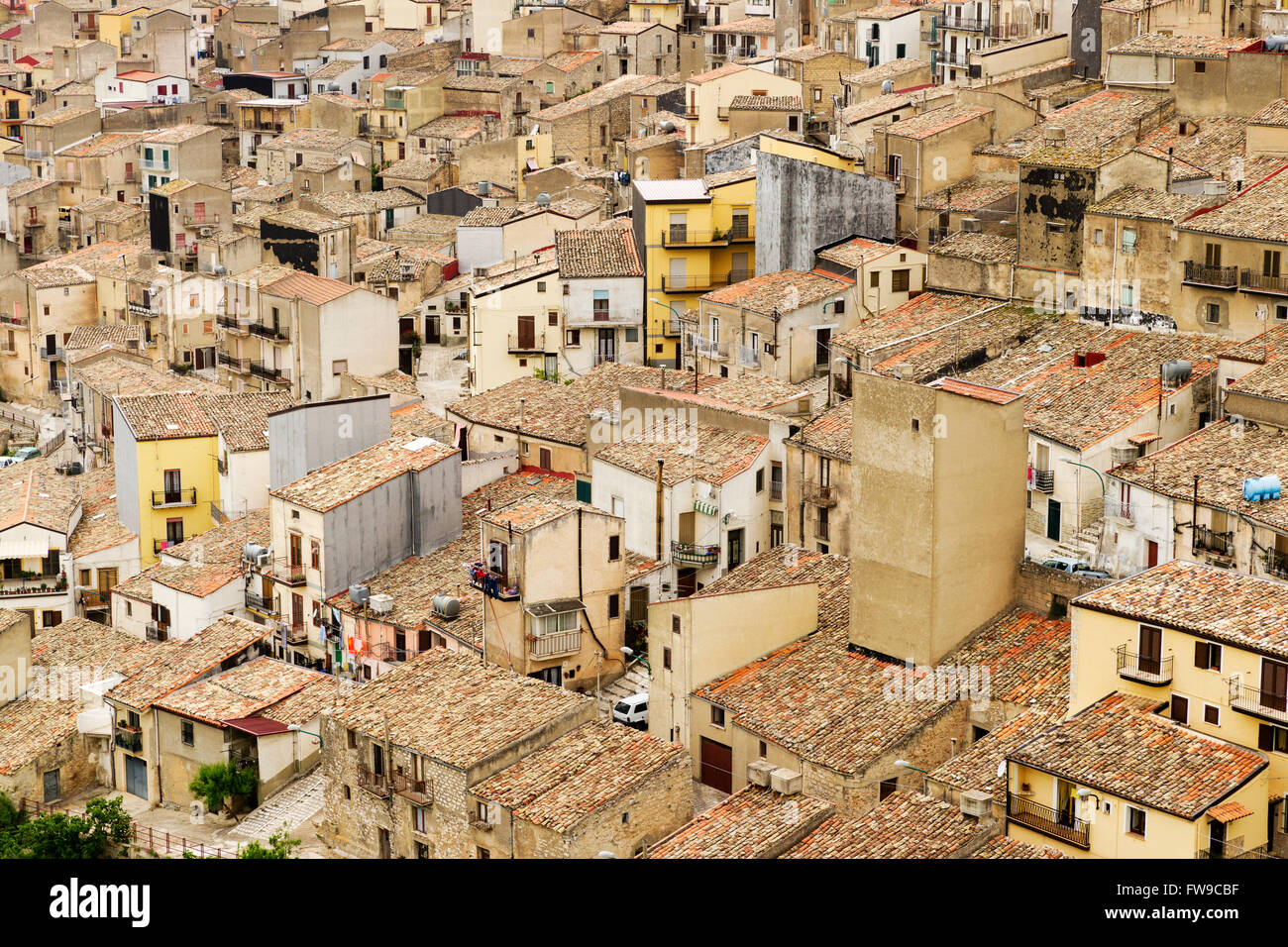 Prizzi, Province of Palermo, Sicily, Italy - Stock Image