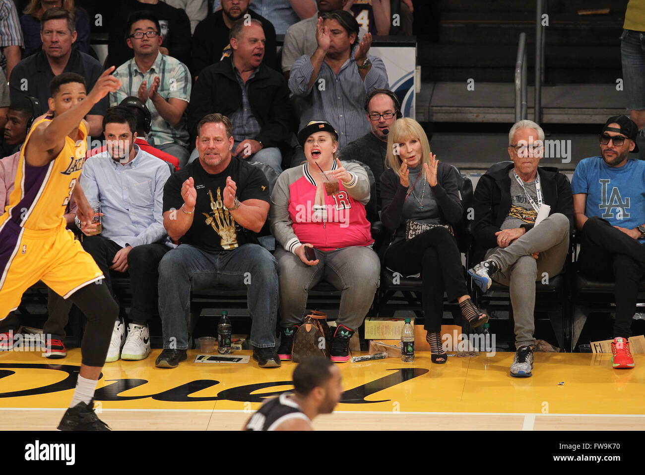 da89a966e6d Celebrities watch the Los Angeles Lakers play against the Brooklyn Nets  Featuring: Rebel Wilson Where