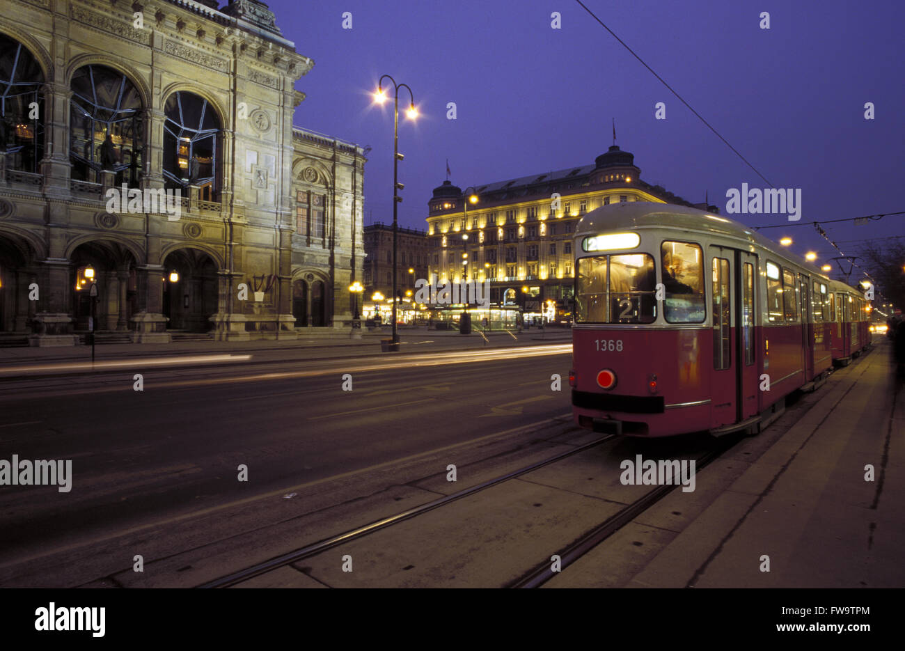 AUT, Austria, Vienna, Hotel Bristol at the Kaerntner Ring, on the left the Vienna State Opera House.  AUT, Oesterreich, - Stock Image