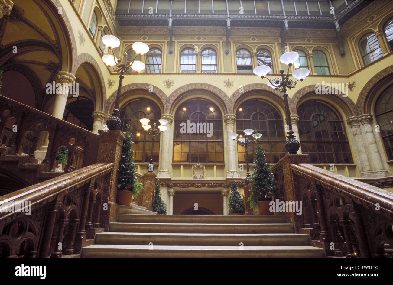 AUT, Austria, Vienna, the Freyung arcade at the Palais Ferstel.  AUT, Oesterreich, Wien, die Freyung-Passage im - Stock Image