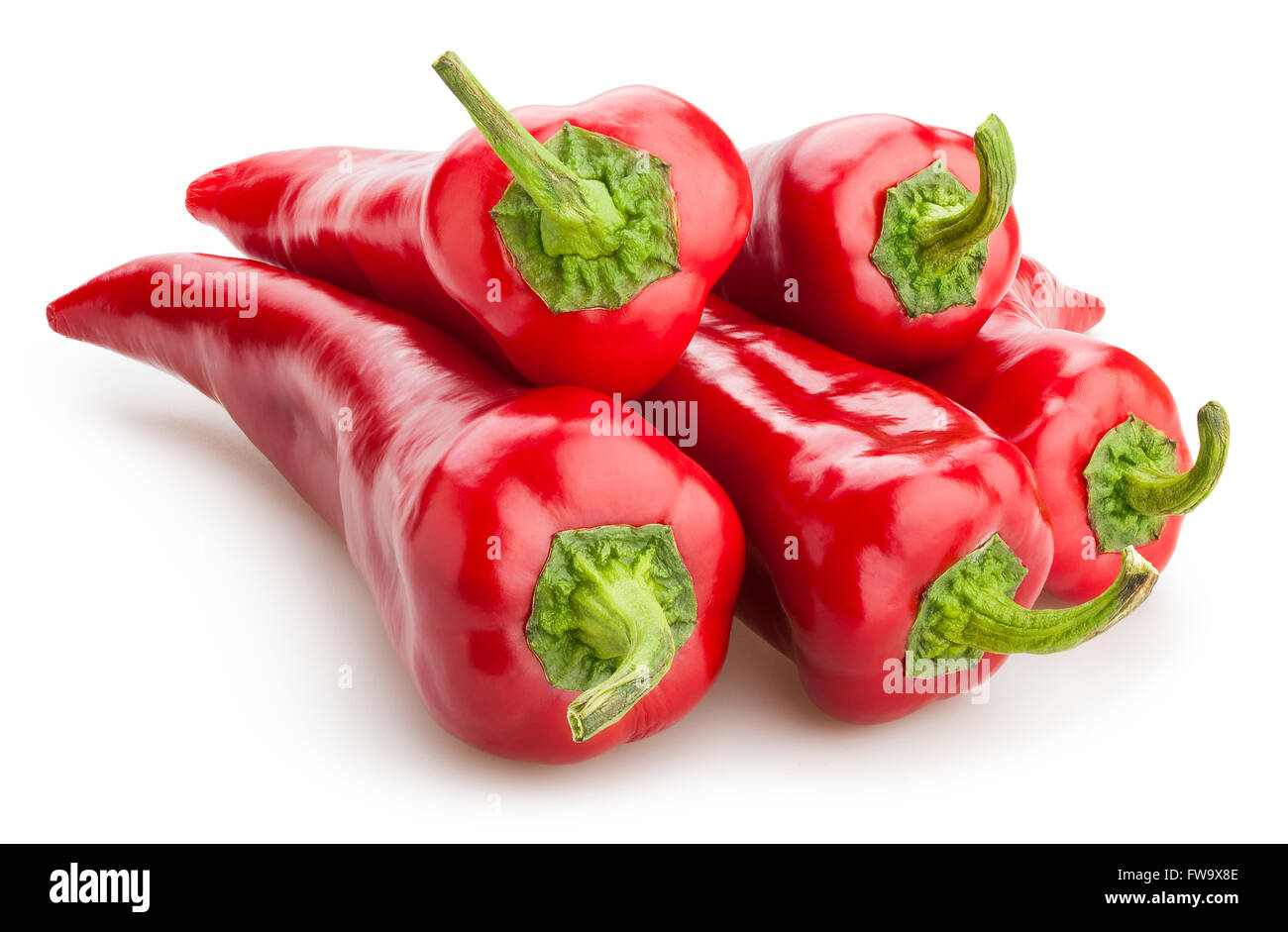 red pepper isolated - Stock Image