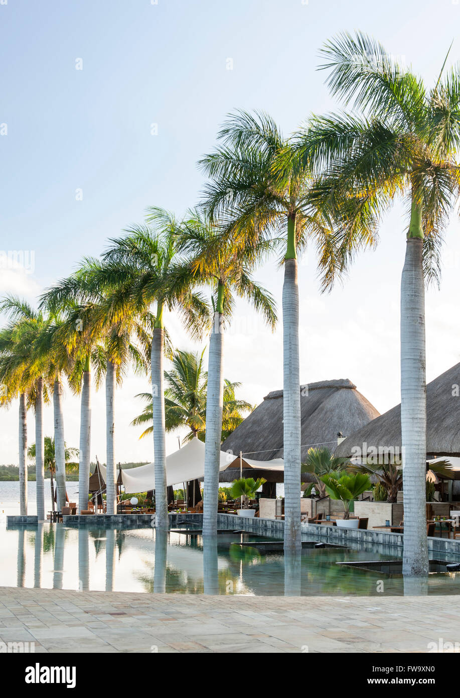 Four Seasons Hotel in Mauritius. Stock Photo