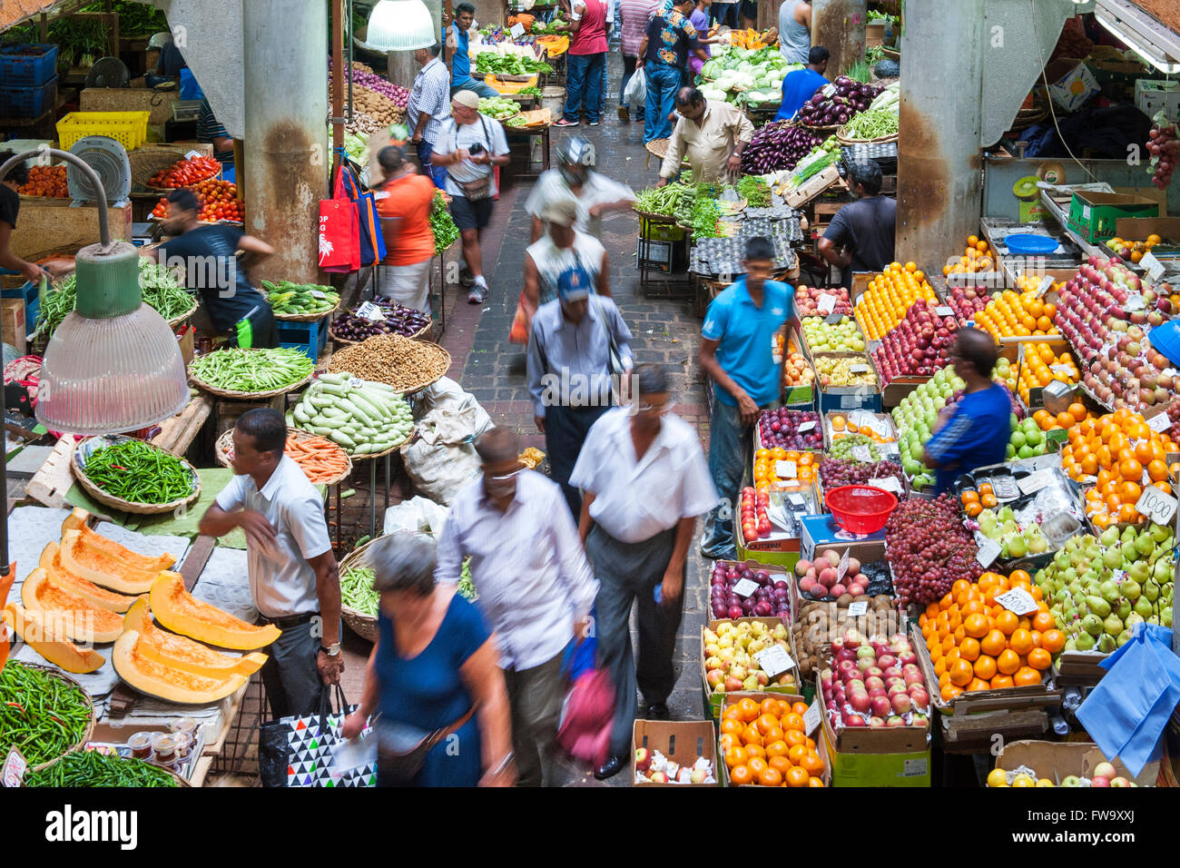 The market in port louis the capital of mauritius stock photo 101636938 alamy - Mauritius market port louis ...