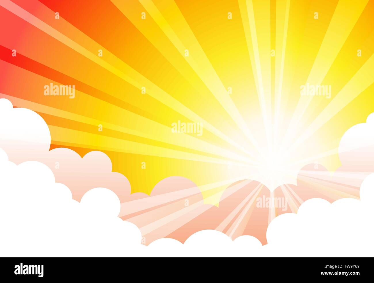 Sky Sun Cloud Vectors - Stock Image