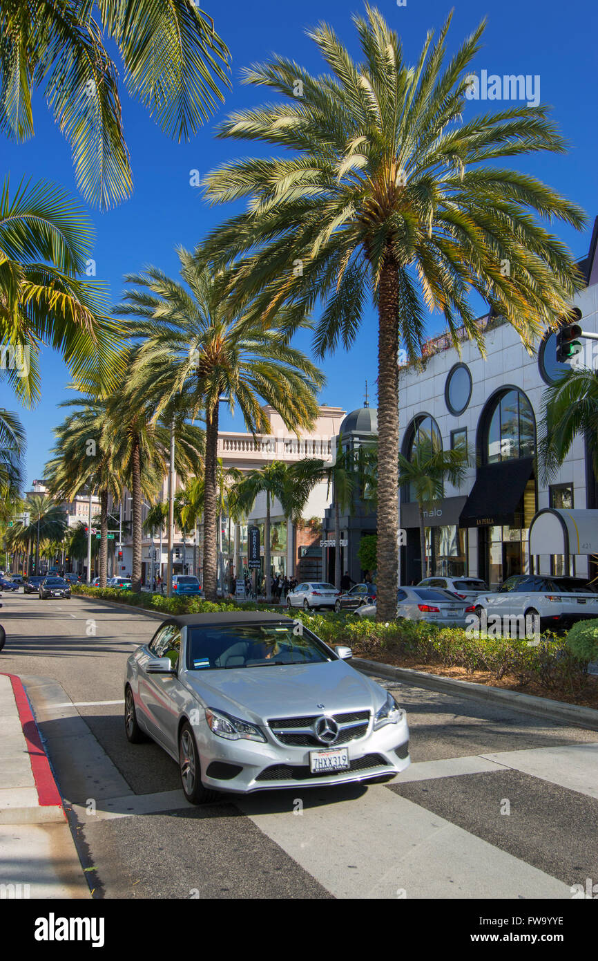 Rodeo Drive in Beverly Hills - Stock Image