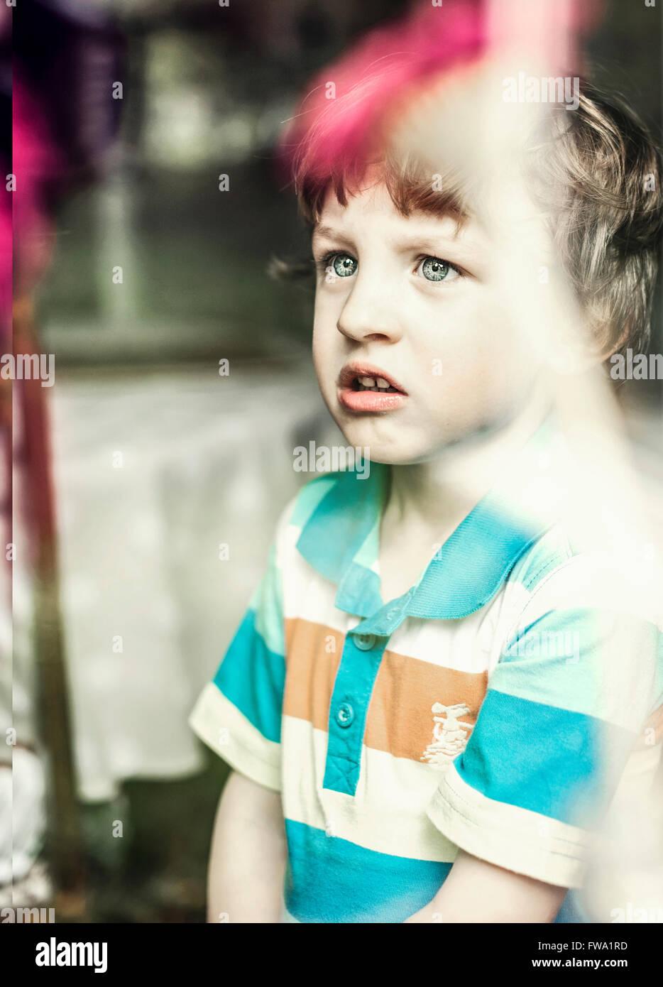 a small boy Stock Photo