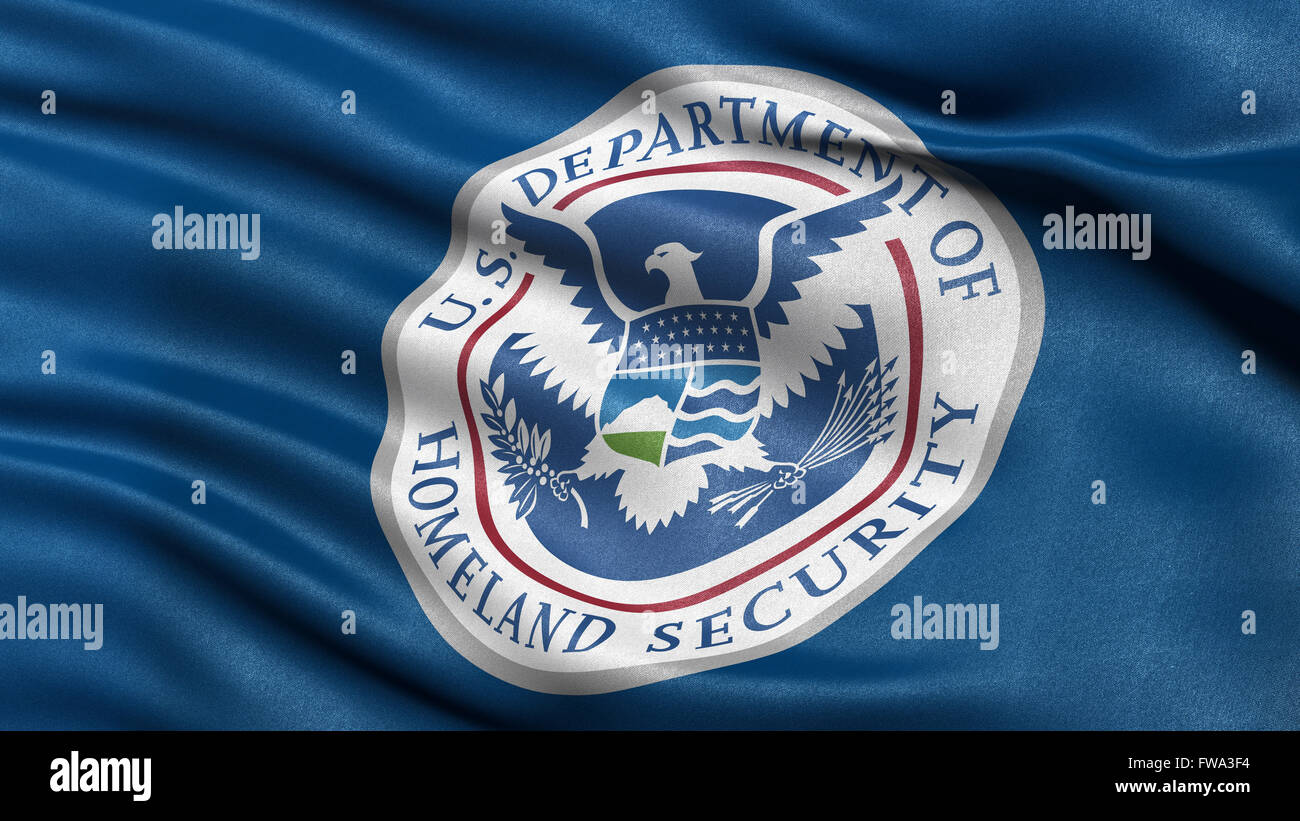 Flag of the Department of Homeland Security - Stock Image