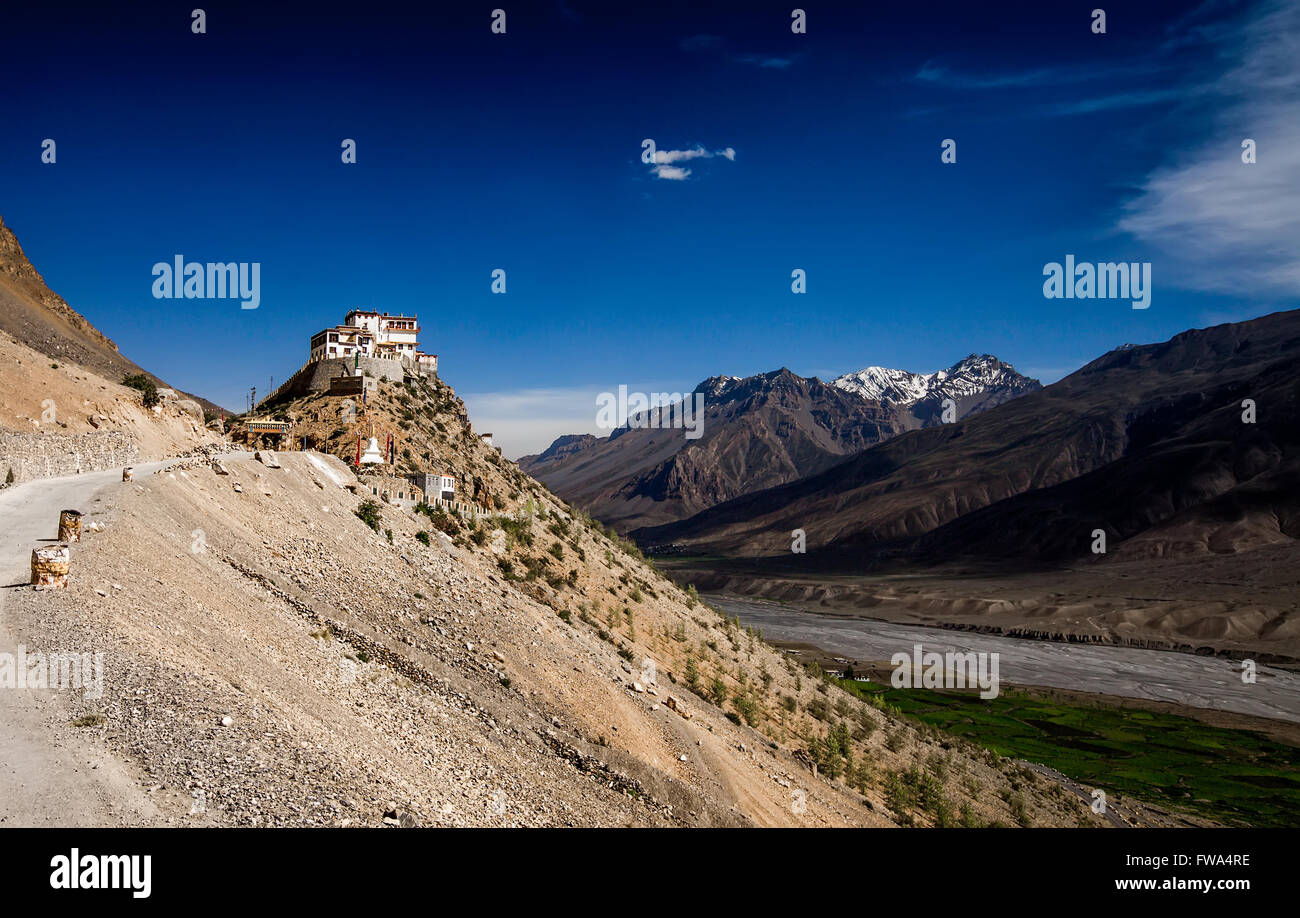 India a monastery in the mountains of Himachal Pradesh - Stock Image