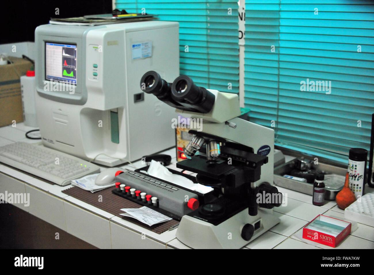 Science in a Hospital, Valencia, Mindanao, Philippines. Stock Photo