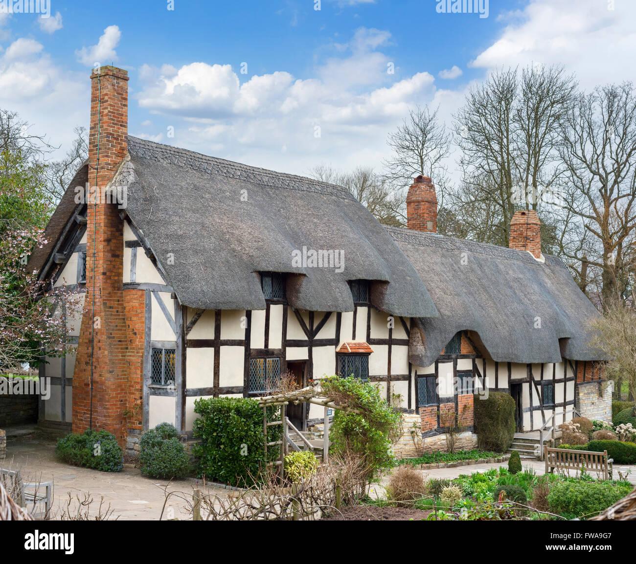 Anne Hathaway's Cottage, Shottery, Stratford-upon-Avon, Warwickshire, England, UK - Stock Image
