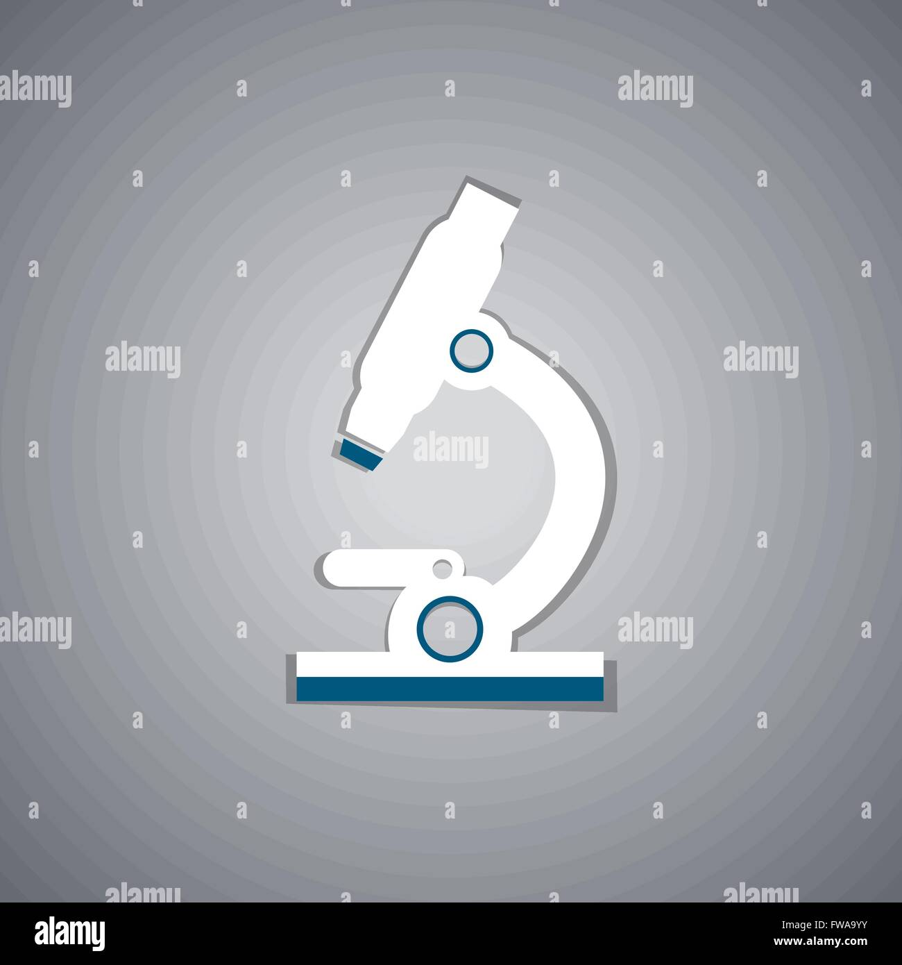Microscope glyph icon. - Stock Image