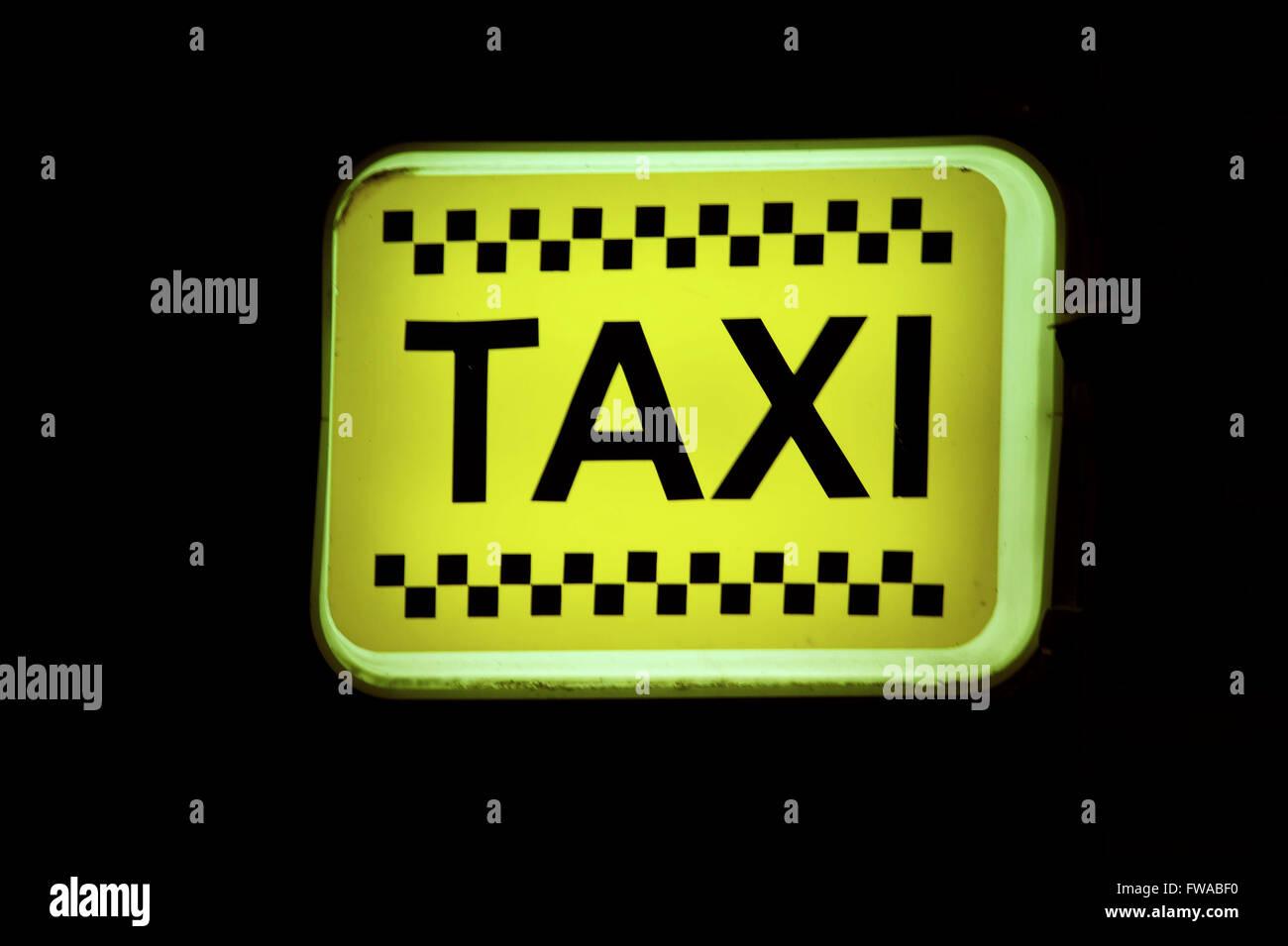 Taxi Stop, Bulgarien. - Stock Image