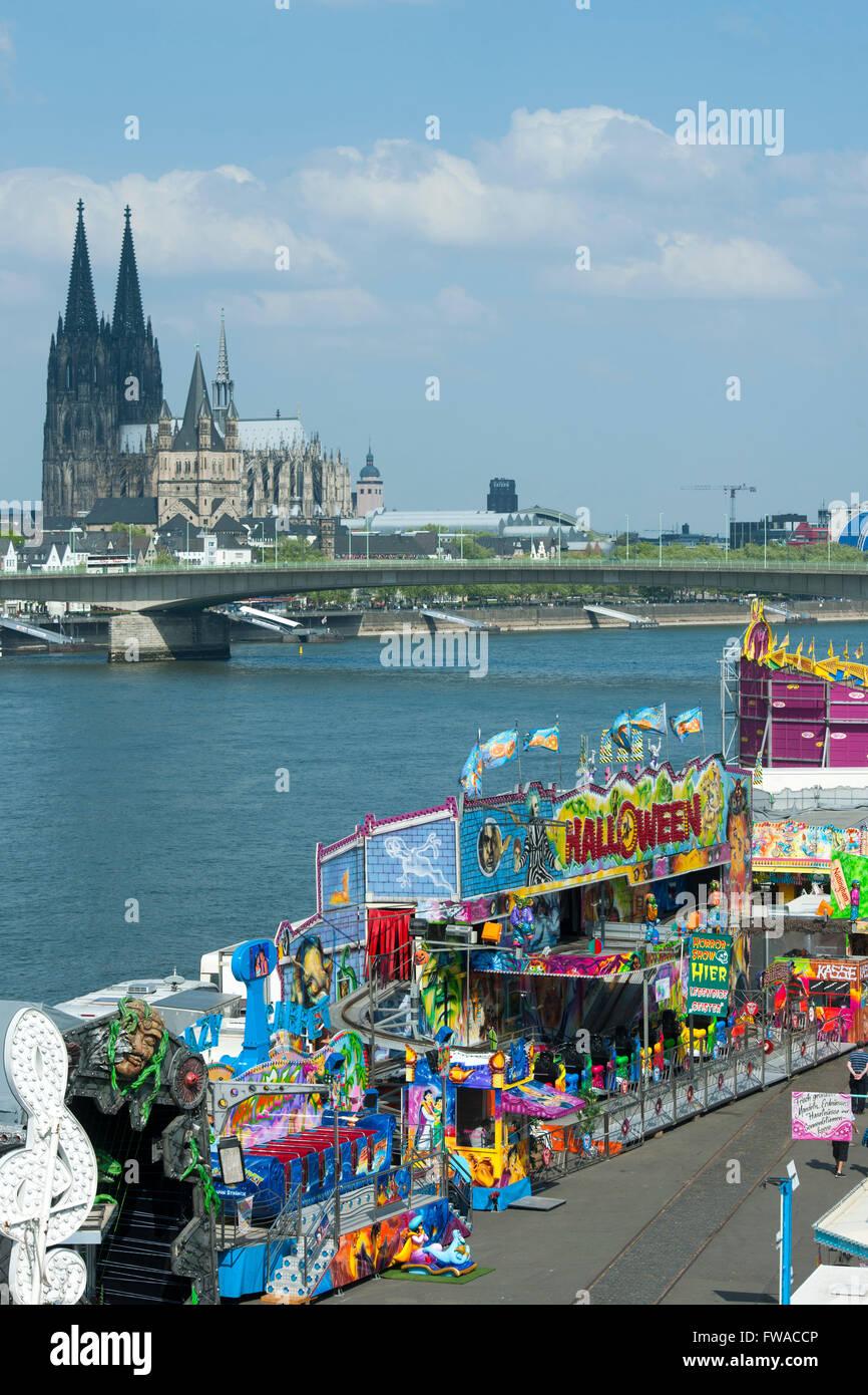 Köln, Deutz, Osterkirmes Stock Photo