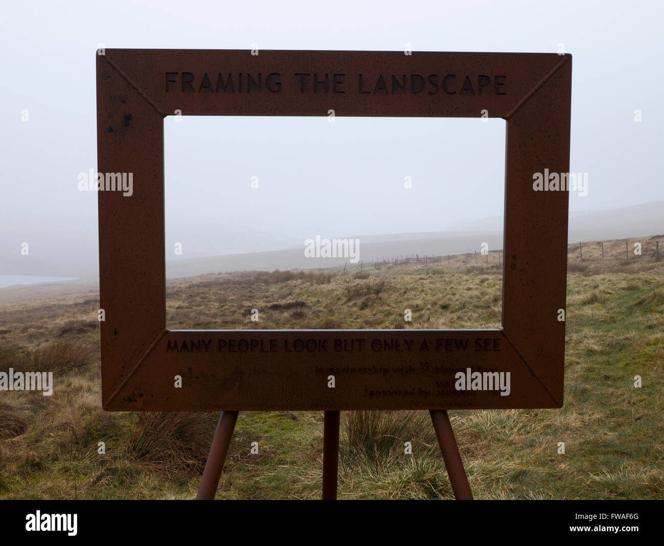 Framing the Landscape by Ashley Jackson beside the Pennine Way off ...