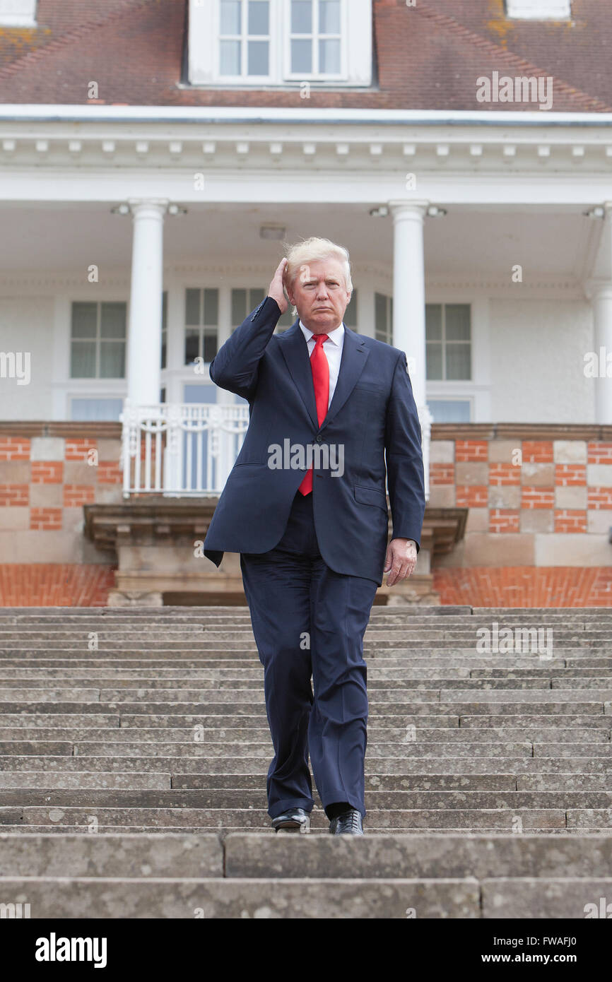 US President and Tycoon Donald J. Trump opening his luxury golf resort Trump Turnberry in Ayrshire, Scotland, UK - Stock Image