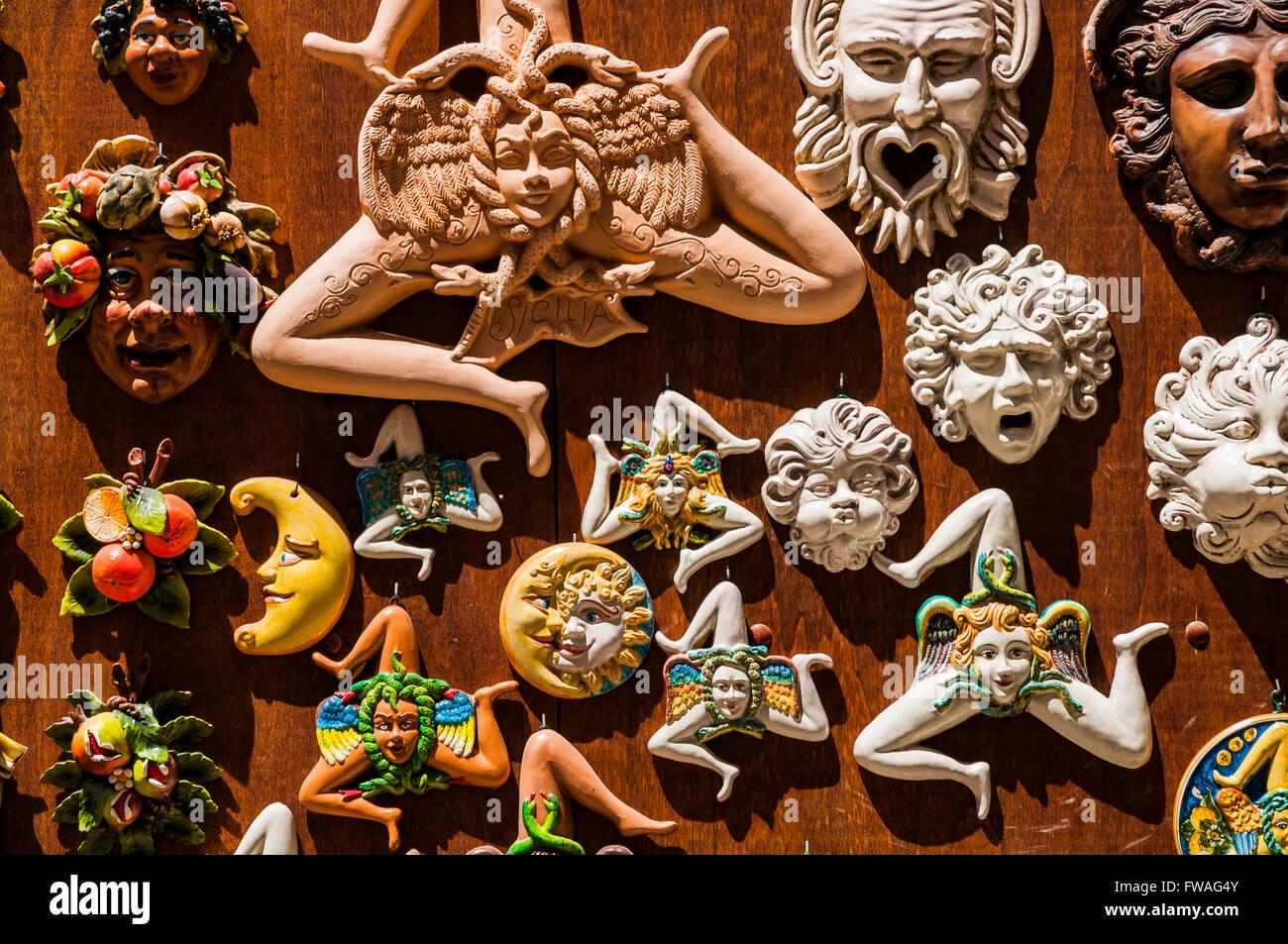 The Head Of Medusa Symbol Of Sicily Sicily Italy Stock Photo