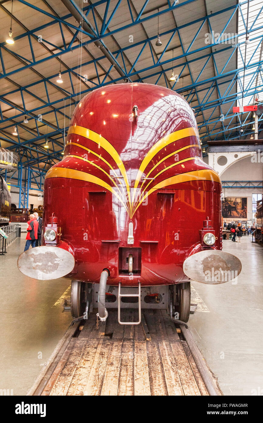 Coronation Class Pacific steam locomotive Duchess of Hamilton in the National Railway Museum at York, North Yorkshire, - Stock Image