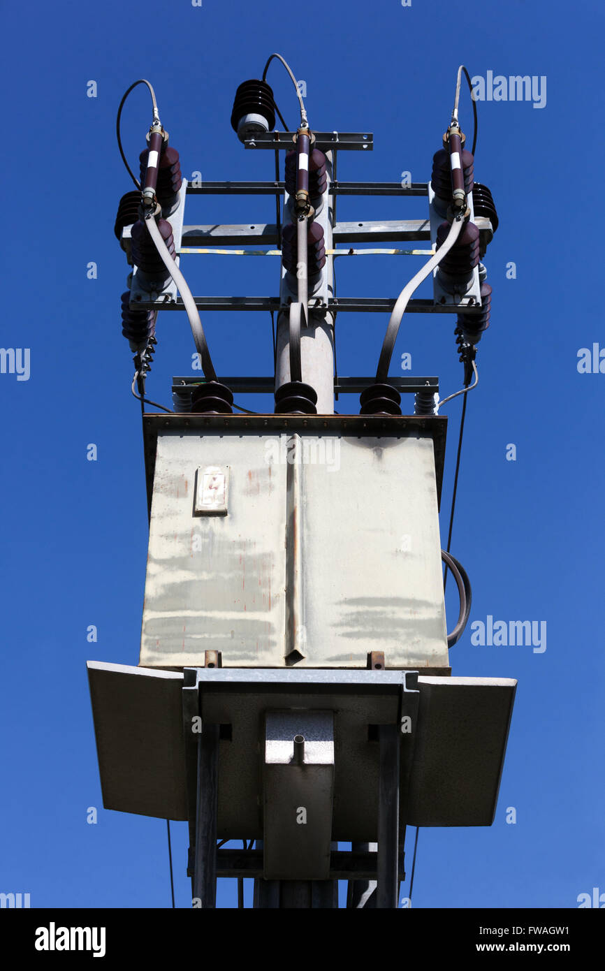 Wires In Box Stock Photos Images Alamy Wiring Sky Electric Transformer A Setting Czech Republic Image