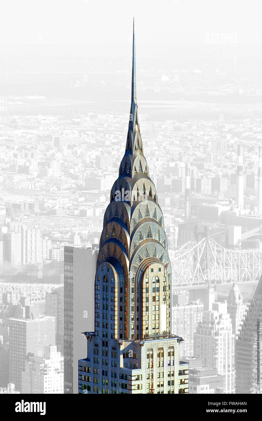 Chrysler Building, New York City, United States of America. - Stock Image