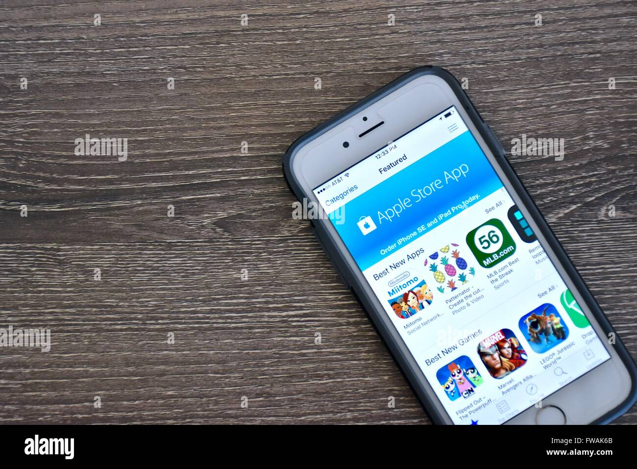 An Apple Iphone 6s Displaying An Application On Its Screen Stock Photo Alamy