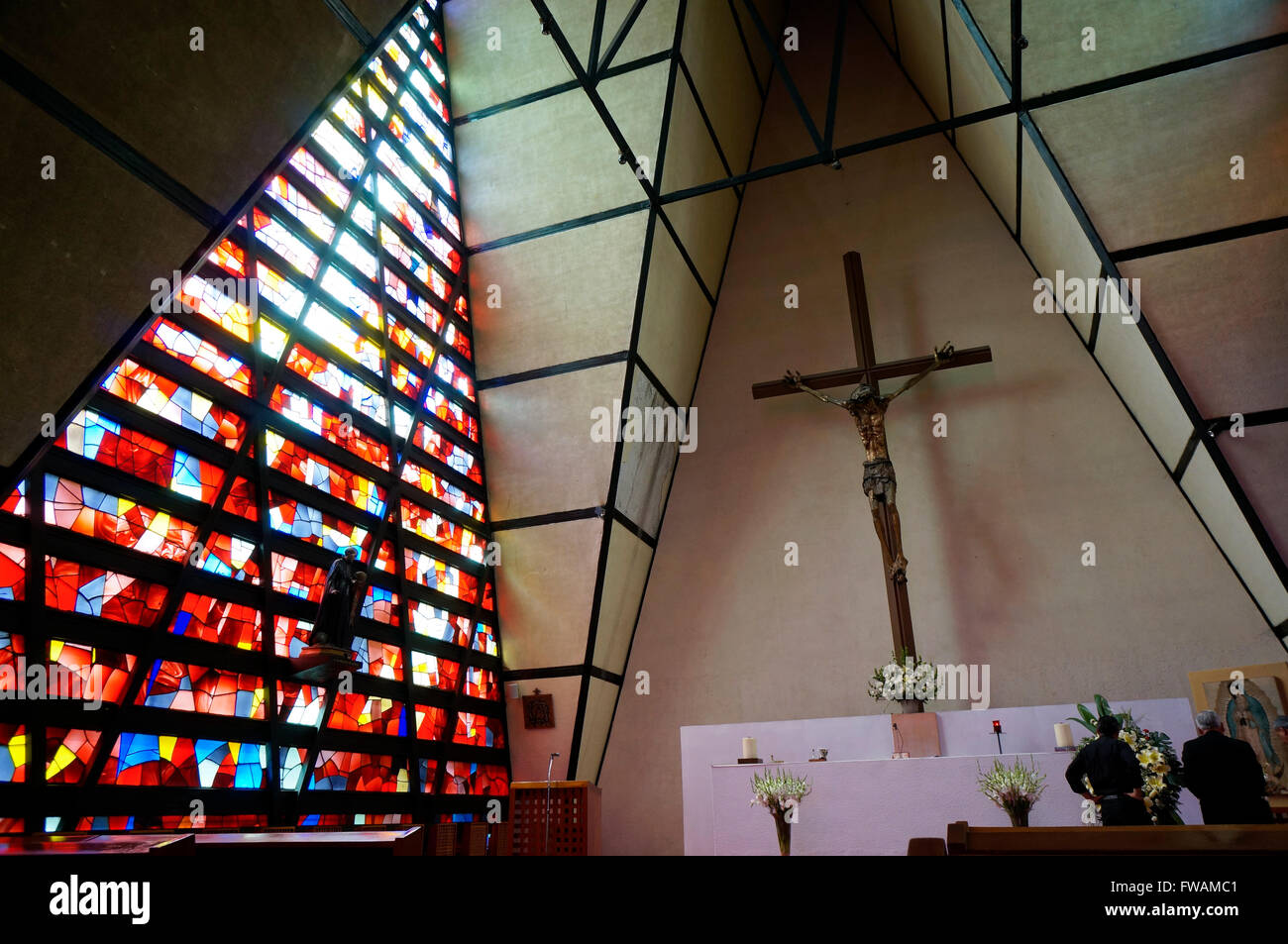 'San Ignacio de Loyola' catholic church in the Polanco neighborhood in Mexico City, Mexico - Stock Image