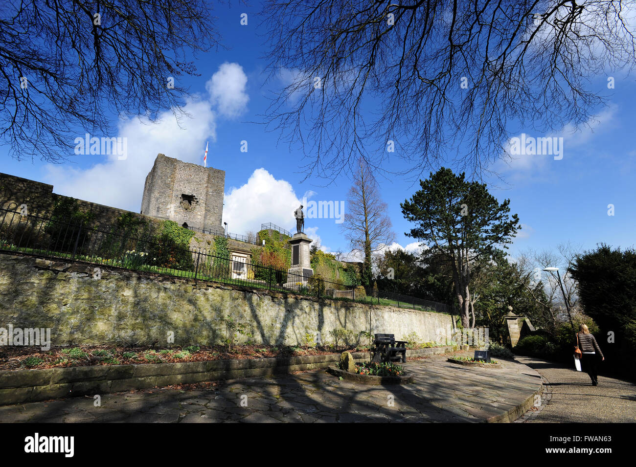 Clitheroe Castle, Clitheroe, Lancashire. Picture by Paul Heyes, Thursday March 31, 2016. - Stock Image