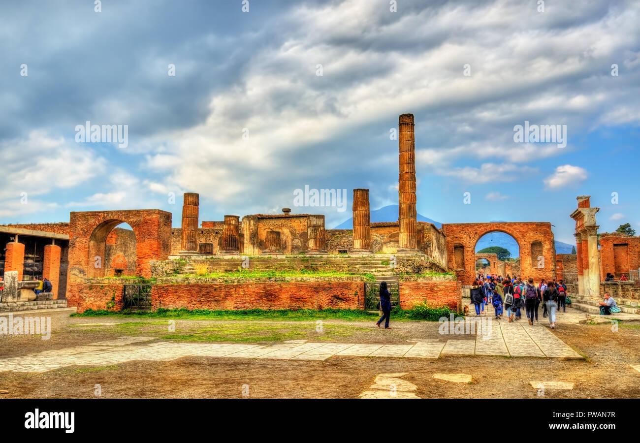 Temple of Jupiter in Pompeii - Italy - Stock Image