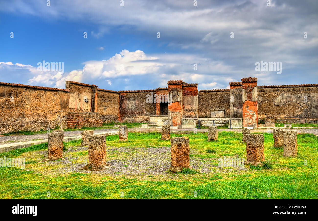 Macellum, an ancient market in Pompeii Stock Photo