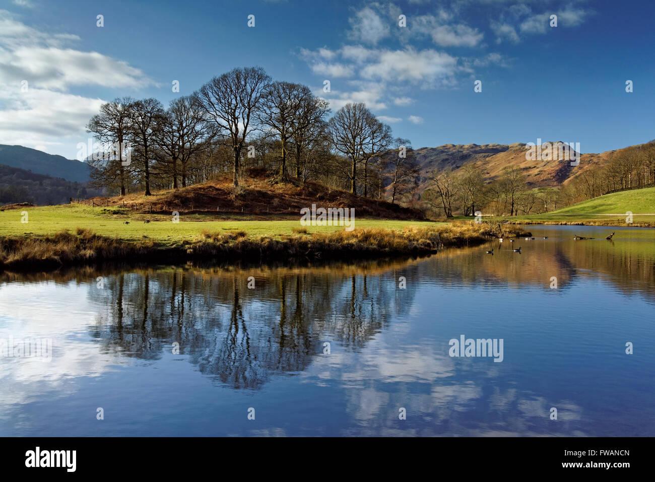 UK,Cumbria,Lake District,River Brathay near Elterwater Stock Photo