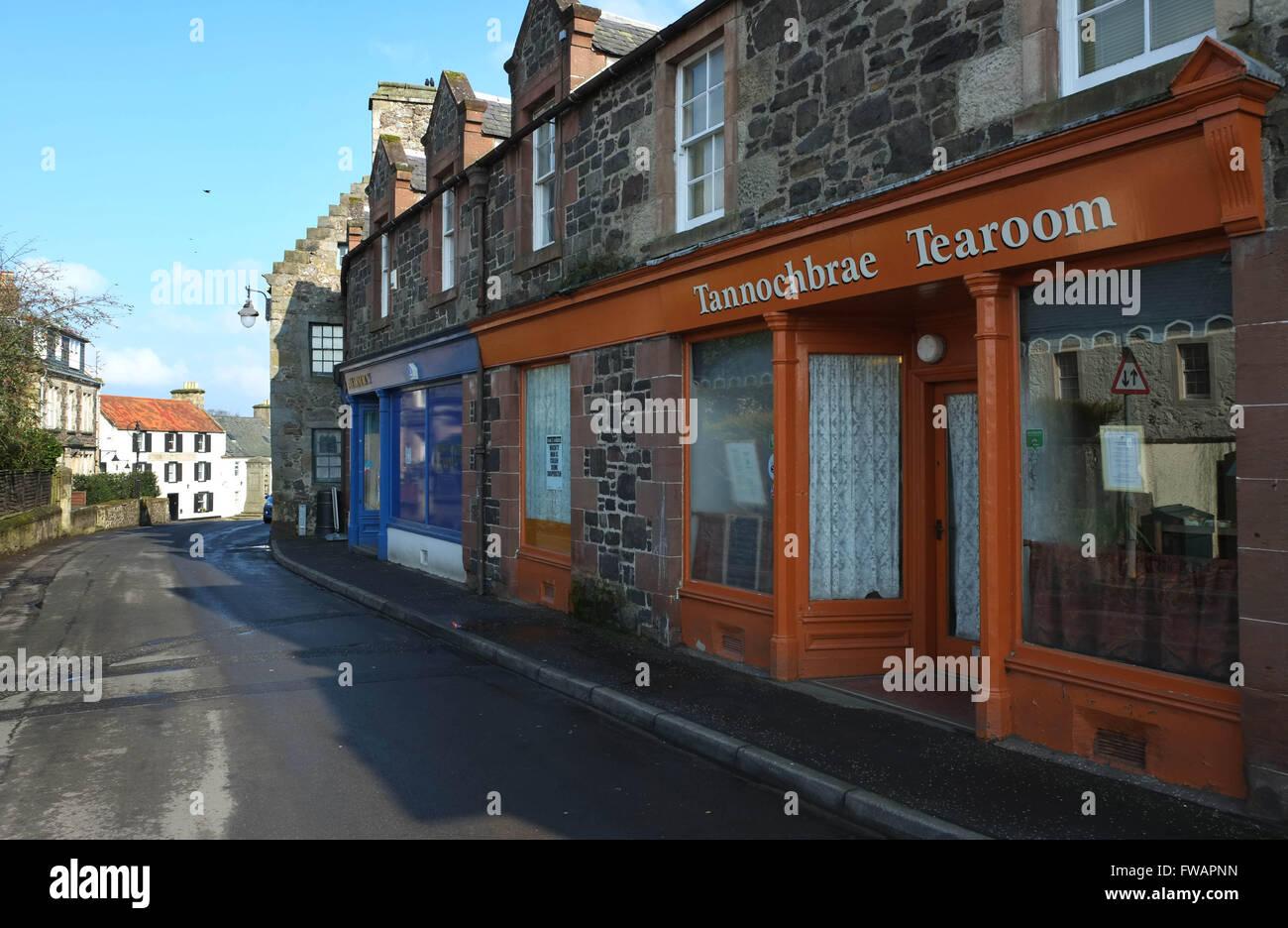 03/04/2016, The Tannochbrae Tearoom, Auchtermuchty, Fife, Scotland, - Stock Image