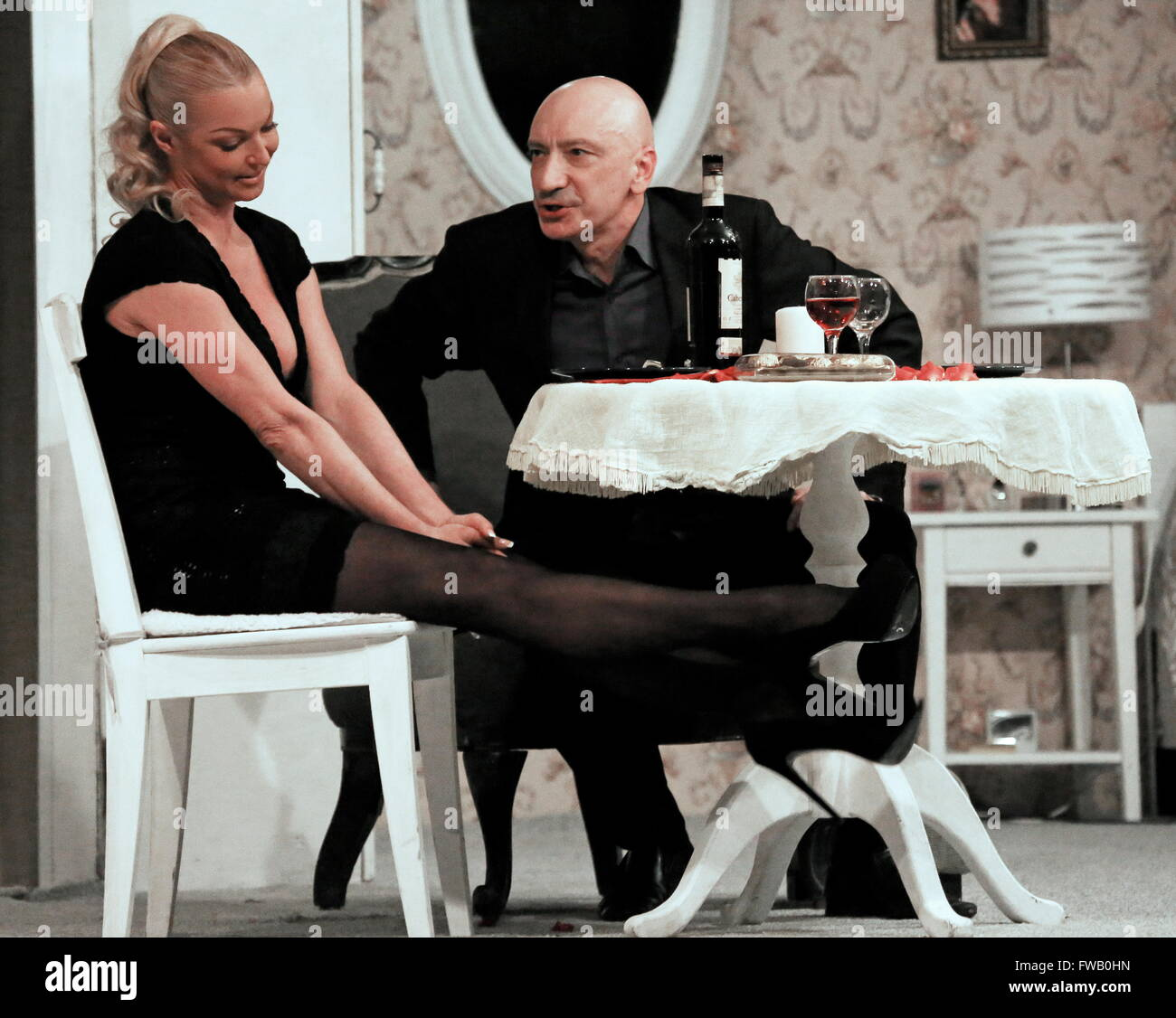 Anastasia Volochkova forced her daughter to sit on the splits 03/03/2018 42