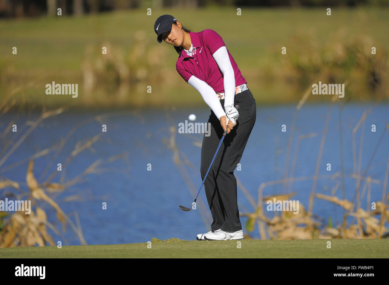 December 7, 2008 - Daytona Beach, Florida, UNITED STATES - Michelle Wie during the final round of LPGA Qualifying - Stock Image